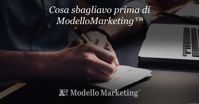 Prima di ModelloMarketing - Stefano Cattelani
