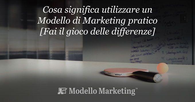 Modello di Marketing pratico