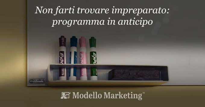Programmazione e modelli di marketing - ModelloMarketing
