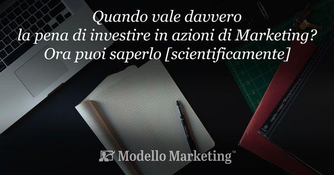 Investire nel marketing - ModelloMarketing
